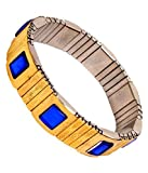 S.S.Axon Men's Blood Pressure Control Magnetic Bracelet Bp Monitor (Golden)