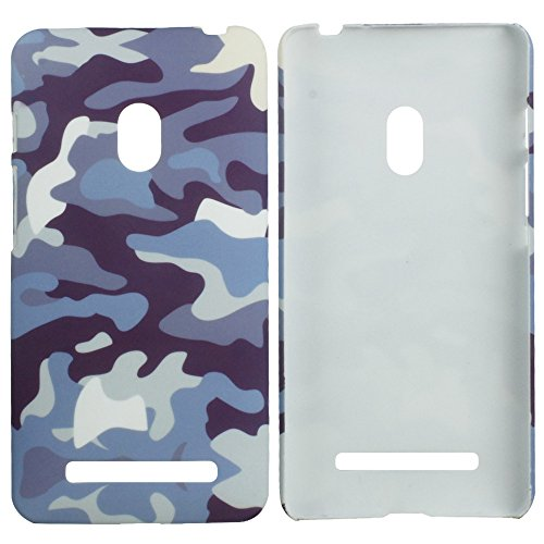 Heartly Army Style Retro Color Armor Hybrid Hard Bumper Back Case Cover For Asus Zenfone 5 A501CG - Navy Blue  available at amazon for Rs.249