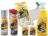 6-tlg. SONAX BIKE Fahrrad E-Bike Pflege-SET mit Silikon-Kettenpflegeöl + Reiniger + Reinigung-/Pflegetuch + Sprühwachs + Kettenspray + Spezialöl