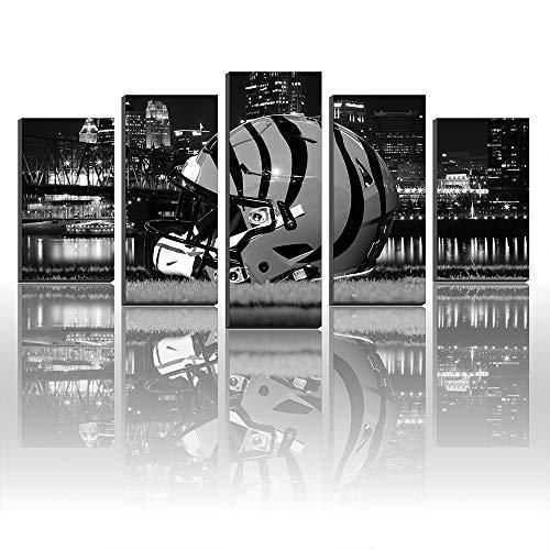 Super Bowl Cincinnati Bengals Logo NFL Football Gemälde Leinwanddrucke Bild Wall Art Art Art Size5 Frame (Bilder Football Nfl)