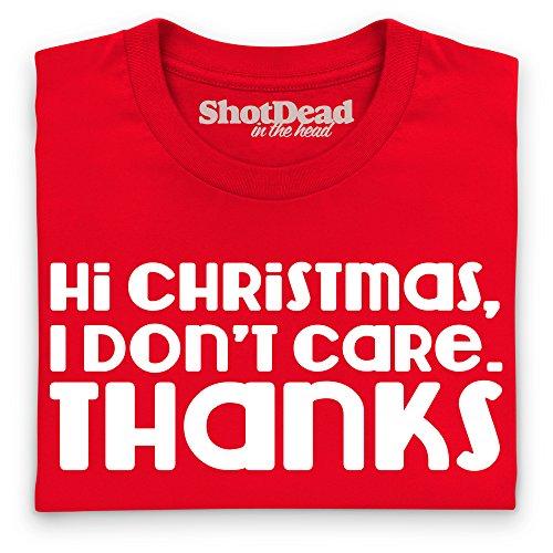 Hi Christmas T-Shirt, Herren Rot
