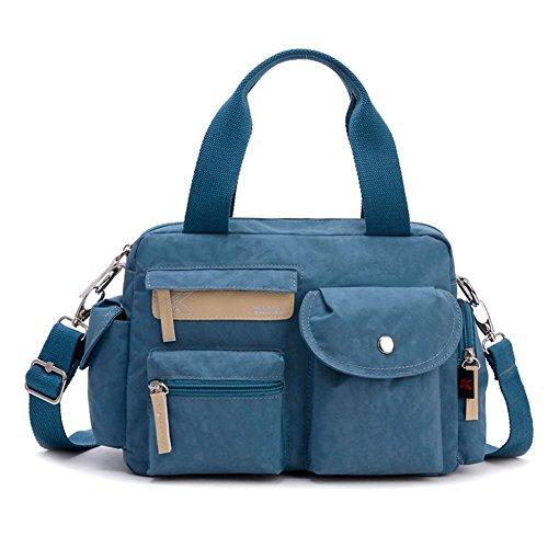 Ladies singola borsa a tracolla,portatile/singola spalla /messenger bag,borsa di tela-Rosso Blu