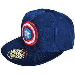 Capitán América - gorra de béisbol con logotipo Superhéroes Marvel gorra de béisbol producto oficial azul