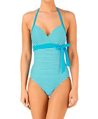 Freya Damen Badeanzug Mehrfarbig Azur Gr. 80 DD, Blau - Azur