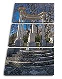 Monumento künstlerisches en Madrid como Lienzo, diseño enmarcado en marco de madera, impresión digital de alta calidad con marco, no es un póster o cartel, lona, Dreiteilig (120x80)