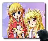 Gaming Mousepad, Mädchen Fortune arteriellen Blonde Pretty Kimono Smiling rutschfestem Neopren Gummi Standard Größe 22,9cm (220mm) X 17,8cm (180mm) X 1/8(3mm) bequem Computer Mauspad