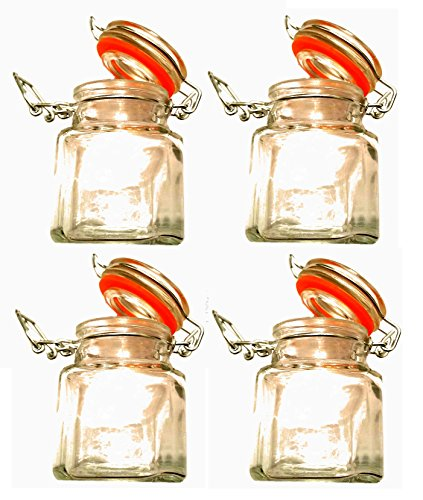 Stow 4 x Gewürzglas Einmachglas Vorratsglas Vorratsdose Marmeladenglas Glas Behälter