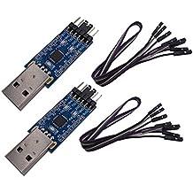 DSD TECH 2PCS USB zu TTL Seriell Adapter mit CP2102 Chip Kompatibel mit Windows 7, 8, 10, Linux, Mac OS X