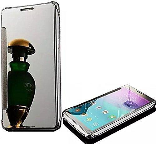 SevenPanda Case Cover Hülle für Samsung LG G5 2016 Metallrahmen Speziell Gestaltetes Metall Buch dünnes Buch Bookstyle Resistant - Silber Handy-fall Für Lg-mehr Als 2