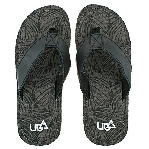 Urban Beach Herren Colorado Zehensteg Beach Flip Flops Sandalen Schuhe (Gr枚脽en Erwachsene 6锟�?1) Grau / Schwarz