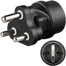 2 Stück Wentronic Schukobuchse auf Südafrika Stecker Netzadapter