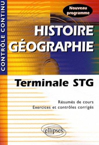 Histoire Geographie Terminale Stg Nouveau Programme