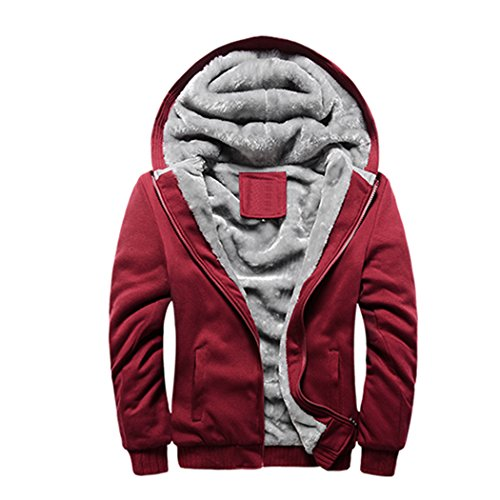 WALK-LEADER Herren Kapuzenpullover, Figur Gr. S, rot (Fleece Womens Hooded California)