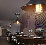 W-LI Lights Vintage House Deco Design Metallwand Φ26Cm E27 Deckenleuchte (Ohne Glühlampe) Retro Industrie Kerzenständer Deckenleuchte E27 Loft Metall Deckenleuchte Innenbeleuchtung