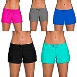 YIFEIKU Co.,Ltd. Swim Shorts Damen Sport Damen Tankini Unten Shorts mit Seitlichen Split Bund Sommer Strand Schwimmkleidung XXL Blau