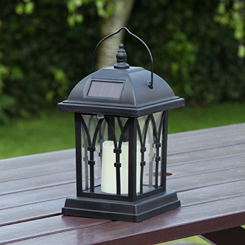 Garden-Candle-Lantern-Solar-Powered-Flickering-Effect-Amber-LED-27cm-by-Festive-Lights