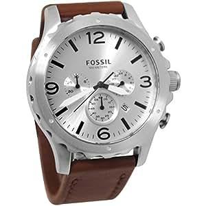 Fossil - JR1473 - Montre Homme - Quartz Chronographe - Bracelet Cuir Marron