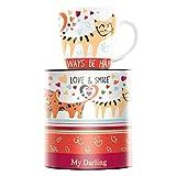 RITZENHOFF My Darling Kaffeebecher von Michal Shalev, aus Porzellan, 300 ml, mit Trendigen Motiven