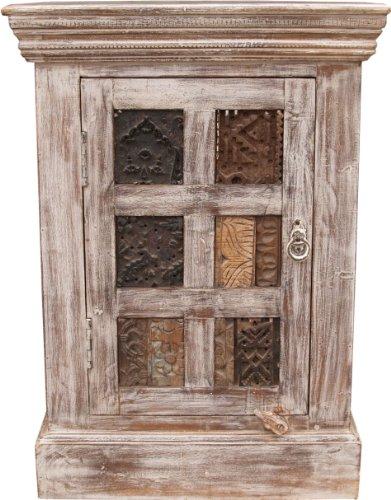 Guru-Shop Beistellschrank, Kommode mit Blockdruck Stempeln (JH0-317), 74x53x40 cm, Kleine Schränke