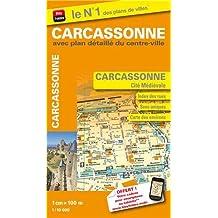 Plan de Carcassonne avec plan détaillé du centre ville et de la Cité Médiévale