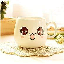Cozyswan Taza Mug,Tazas(cerámica) Expresión imágenes de la historieta tazas desayuno (cute)