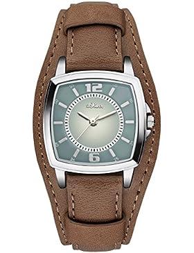 s.Oliver Damen-Armbanduhr Analog Quarz Leder SO-3168-LQ