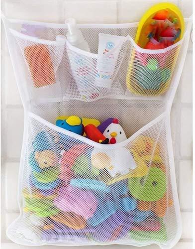 Beitsy Baby Bath Bathtub Bathroom Toy Mesh Net Storage Bag Organizer Holder,Suction Cup Bag