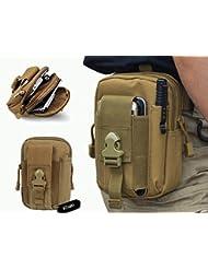 YCNK bolsam, color caqui, para cinturón, con 2anillas, exterior, multiuso, EDC