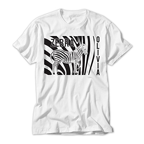 Zebra Print Kids T Shirt Personalised With Your Childs Name. Avalable In Sizes 2 to 12 yrs