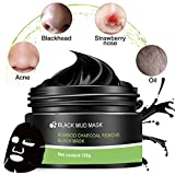 Maschera Nera,Maschera Peel Off,Blackhead Remover Mask,Maschera di fango nero per la rimozione dei punti neri e la pulizia profonda,anti-acne,olio-controllo,anti-aging trattamento dell'acne(120g)
