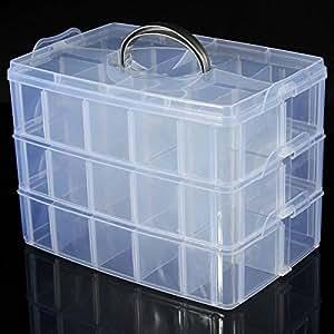 LUCKYFINE 3 Schichten Sortierbox Schmuck Boxen