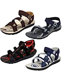 Earton Men Combo Pack of 4 (Sandals & Floaters)