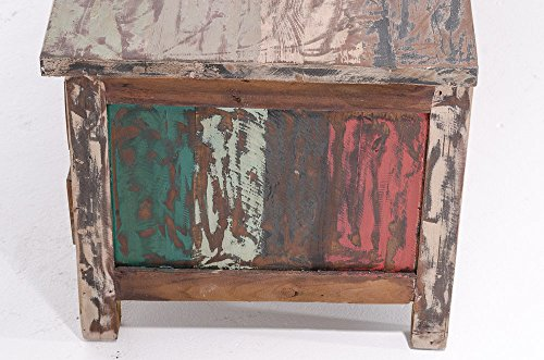 CLP TV Sideboard LAHOLM aus massivem Teakholz mit 4 Schubladen, 150,5 x 50 cm, Höhe 45,5 cm bunt - 4