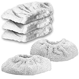 Spares2go Cotton Terry Cloth Cover Pads for Karcher Steam Cleaner Hand Tool (Pack of 5)