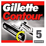 Gillette Contour Recambio De Maquinilla De Afeitar Para Hombre 5 Recambios