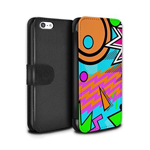 Stuff4 Coque/Etui/Housse Cuir PU Case/Cover pour Apple iPhone 5C / Années 60/1960 Design / Modèle Décennie Collection Années 90/1990