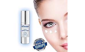 Augen-Kontur Serum 30ml Augenpflege mit Hyaluronsäure haut und Kollagen. Anti Falten-Serum Vitamin B5 für glatte Haut. Elastin und Glycerin für Augenringe und Hautpflege. Augencreme gegen Fältchen