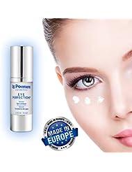 Sérum contour des yeux 30ml à l'acide hyaluronique et au collagène. Creme antirides au panthénol et à la vitamine B5 pour une peau lisse. Élastine et glycérine pour plus d'élasticité