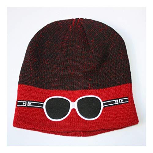 DAMENGXIANG Herbst Winter Stricken Outdoor Warm Cap Männer Freizeit Mode Hip Hop Gläser