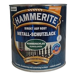 AKZO NOBEL (DIY HAMMERITE) 5087605 Hammerite Metall-Schutzlack Hammerschlag 2,500 L, Dunkelgrün