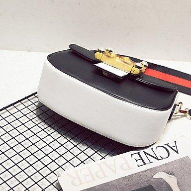 SUNNY KEY-Borsa a tracolla @ Da donna PU (Poliuretano) Per tutte le stagioni Baguette A calamita Bianco Nero , white white