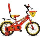 #3: Hero Dainty Steel 14T Single Speed Bicycle, Kids (Red/Yellow)