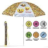 Ombrellone da spiaggia / giardino / mare / terrazza. Antivento – Emoji ufficiali Whatsapp – Protezione dai raggi UV SPF 50+. Ombrellone Perletti.