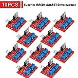 Innovateking-EU 10 pz Superior IRF520 Modulo Driver MOSFET Uscita PWM 0-24 V 5A per Arduino MCU Arm Raspberry Pi