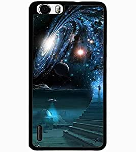 ColourCraft The Galaxy Design Back Case Cover for HUAWEI HONOR 6 PLUS