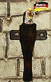 WeWi Krippenbeleuchtung - Set 3-tlg. Holzfackeln für Krippen, nussbaumfarben h=4,5 cm