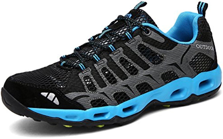 Toptak Mens Low Top Wanderschuhe Wasserdichte Outdoor Walking Sport Trainers Schwarz Blau