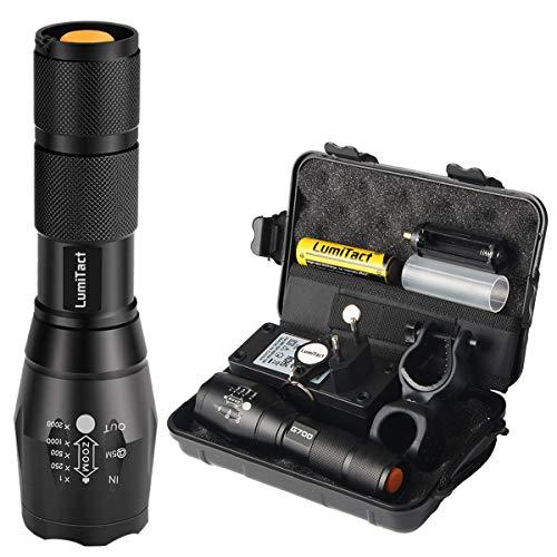 Lumitact G700 LED Taktische Taschenlampe, Super Helle 1000 Lumen CREE Taschenlampen, 5 Licht-Modi,Wasserdicht, Aufladbar Fackel für Camping Wandern und Notfälle (Inklusive 1 x 18650 Batteries)
