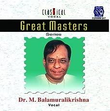 Great Masters - M. Balamuralikrishna - Vol. 1
