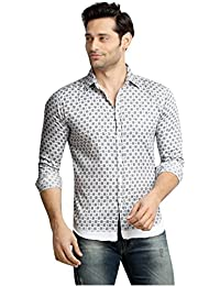 [Sponsored]London Bee Men's Cotton Printed Long Sleeve Regular Fit Shirt
